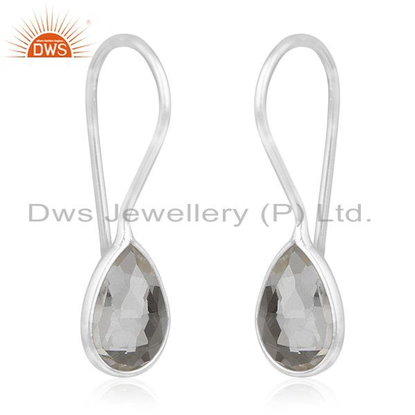 Exporter Crystal Quartz  Sterling Silver Handmade Earring Jewelry Manufacturers