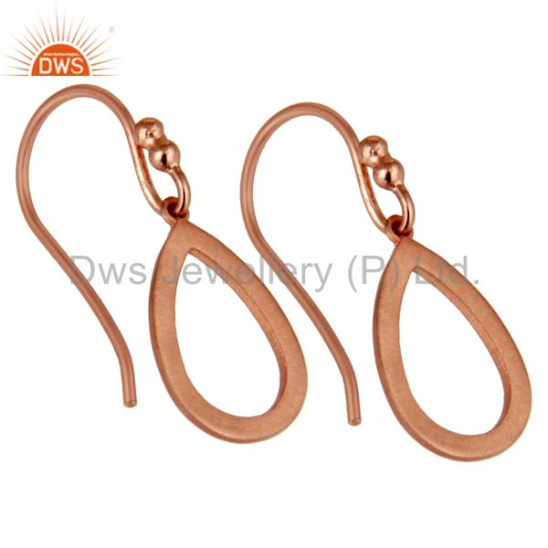 Exporter 18k Rose Gold Plated Sterling Silver Drop Designer Earrings