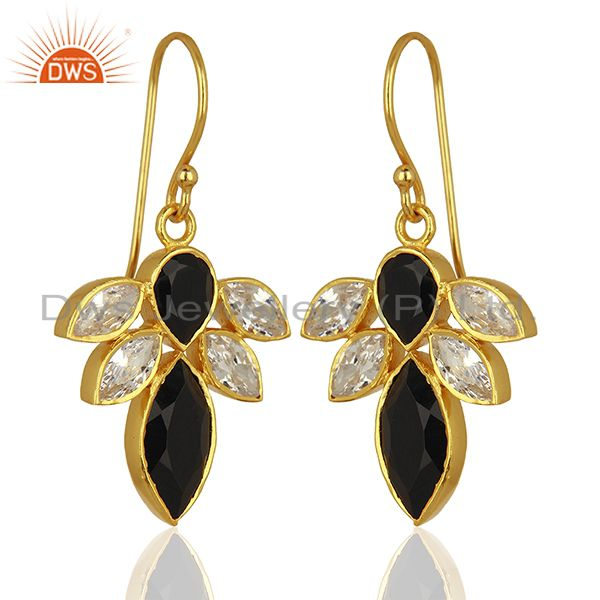 Exporter White Zircon and White Chalcedony Gemstone Fashion Earrings Supplier