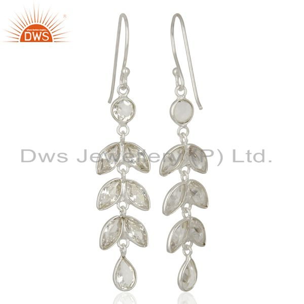 Exporter Handmade Leaf Design Fine Silver Earrings Jewelry Manufacturer