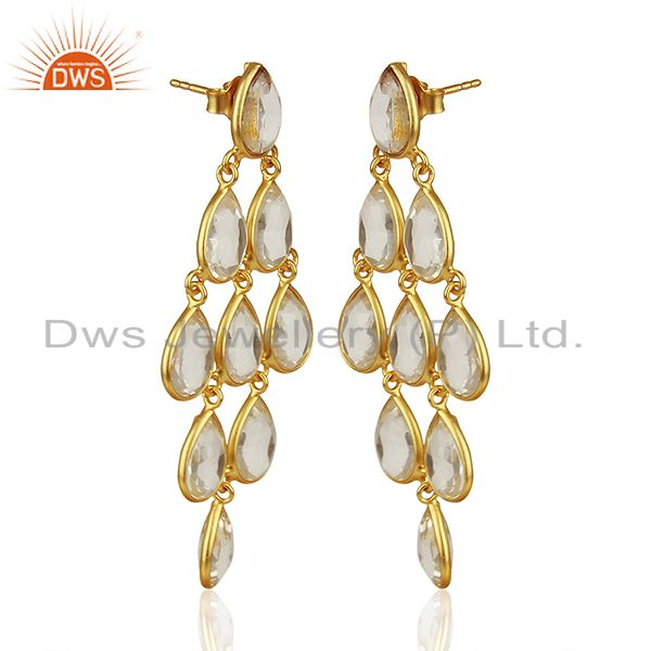 Exporter Crystal 925 Silver Earrings Customized Gemstone Jewelry Manufacturer