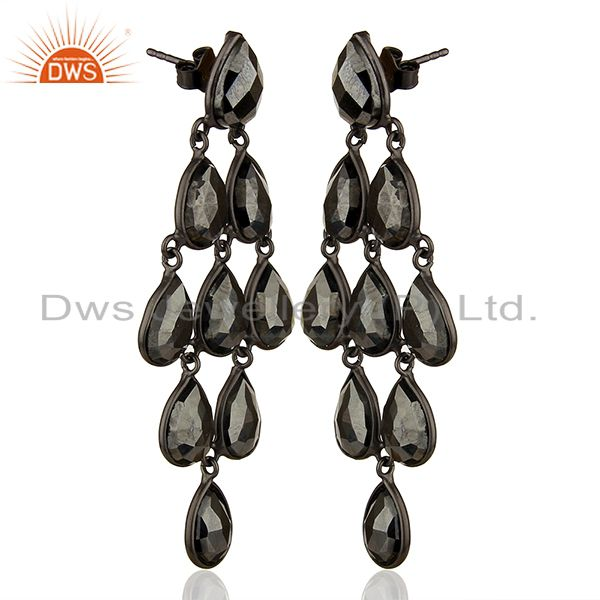 Exporter Black Rhodium Plated 925 Silver Customized Earrings Manufacturers