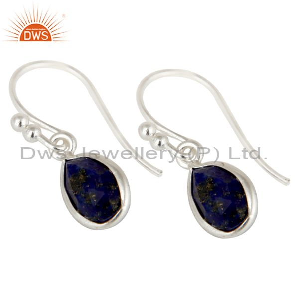 Wholesalers Natural Lapis Lazuli Gemstone 925 Sterling Silver Earrings