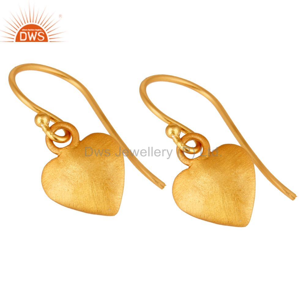 Wholesalers Traditional Handmade Pan Design Earrings with 18k Gold Sterling Silver