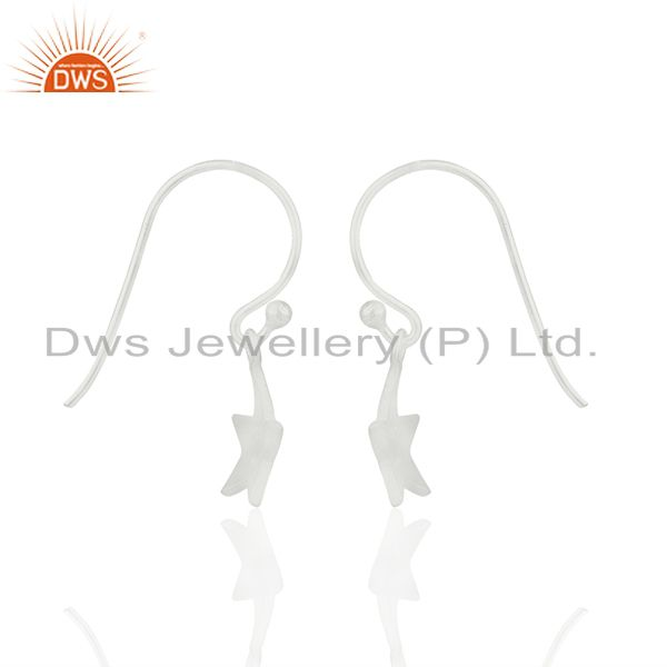 Exporter Handmade 925 Sterling Silver Star Charm Girls Drop Earrings Wholesale