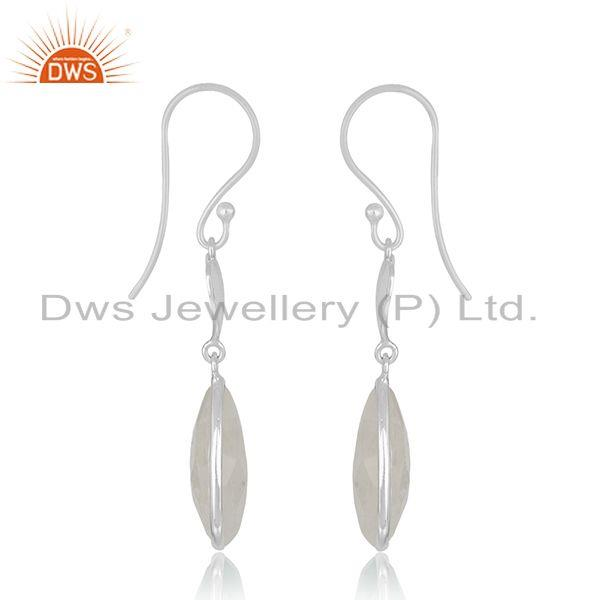 Exporter Raibnow Moonstone Sterling SIlver Heart Earrings Jewelry Manufacturer India