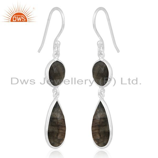 Exporter Labradorite Gemstone Sterling Silver Earring Manufacturer of Wedding Jewelry