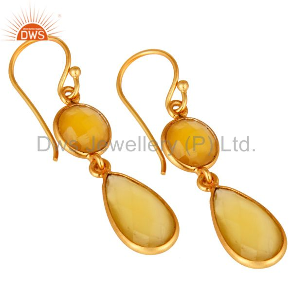 Gemstone Jewelry Yellow Chalcedony earring Gemstone Jewelry Supplier Jaipur
