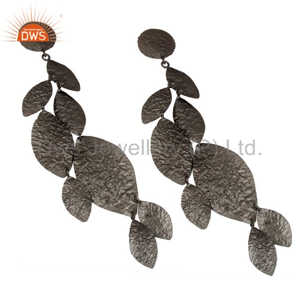 Wholesalers Oxidized Solid Sterling Silver Designer Chandelier Earrings