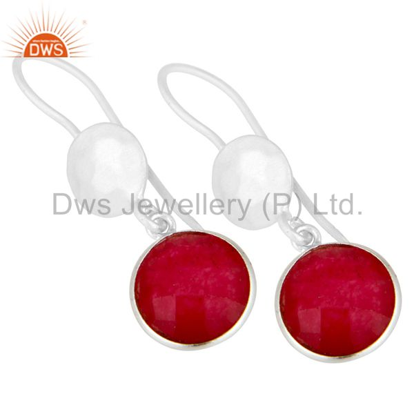 Wholesalers Handmade Sterling Silver Red Aventurine Gemstone Dangle Earrings