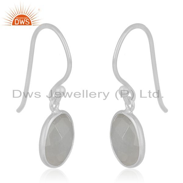 Exporter Rainbow Moonstone 92.5 Sterling Handmade Silver Earring Jewelry Manufacturer