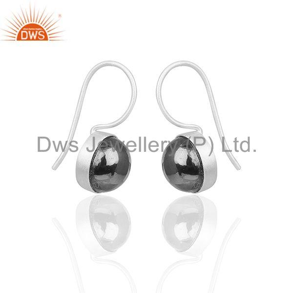 Exporter Hematite Gemstone 925 Silver Designer Girls Earrings Manufacturer