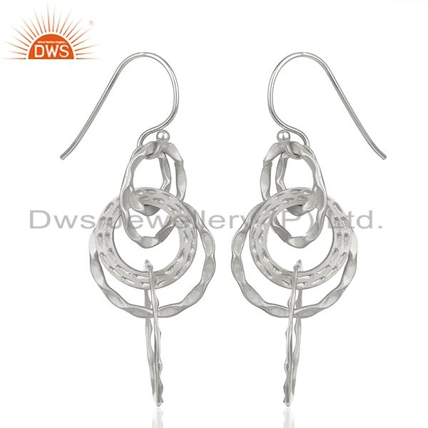 Exporter Indian Handmade 925 Sterling Silver Earrings Manufacturer India