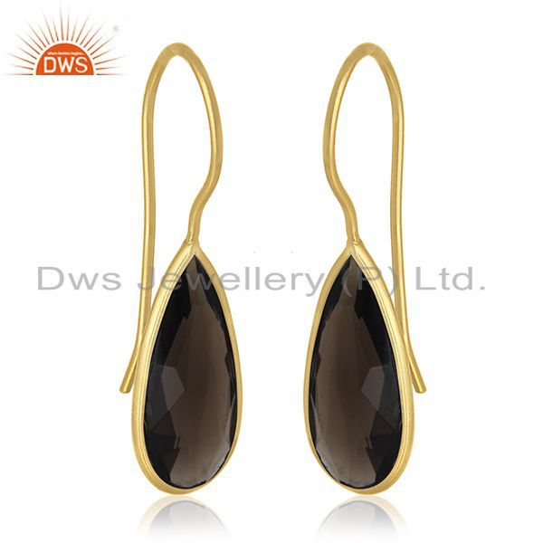 Exporter Private Label Jewelry Manufacturer for 925 Silver Gold Plated Gemstone Earrings