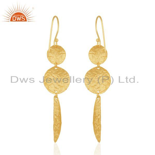 Exporter Gold Plated Sterling Silver Handmade Earrings Manufacturer of Wedding Jewelry