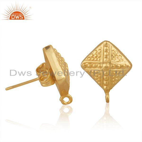 Exporter Indian 14k Gold Plated Brass Designer Fashion Connector Jewelry Finding