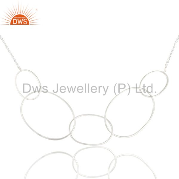 Exporter Traditional Handmade Solid 925 Sterling Silver Link Chain Necklace For Women`s