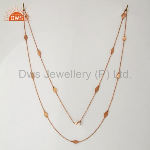 Exporter Rose Gold Plated Sterling Silver Chain Necklace Jewelry Supplier