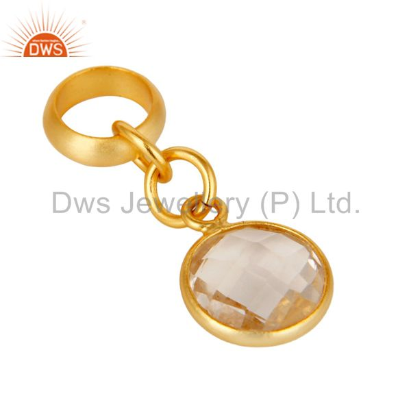 Exporter 18k Yellow Gold Plated Sterling Silver Fine Setting Crystal Bracelet Finding