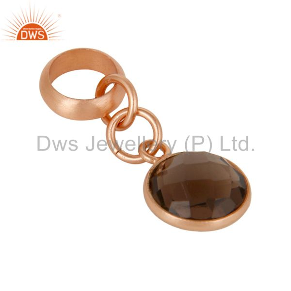 Exporter 18k Rose Gold Plated Sterling Silver Fine Setting Smokey Jewelry Finding