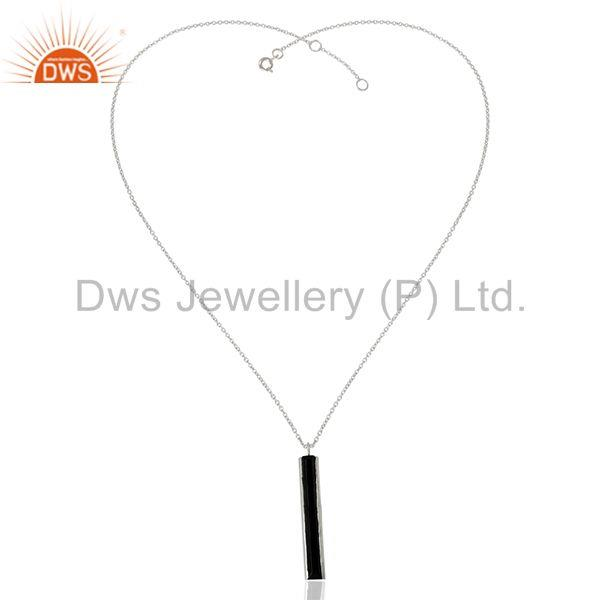 Exporter Black Onyx Gemstone 925 Silver Chain Pendant Manufacturers from India