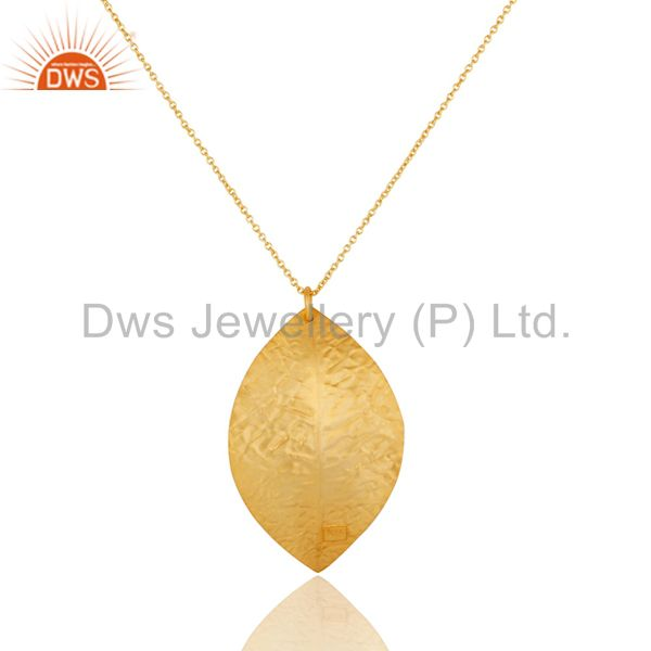 Wholesalers Indian Handcrafted 925 Sterling Silver 24k Yellow Gold Plated Pendant Necklace
