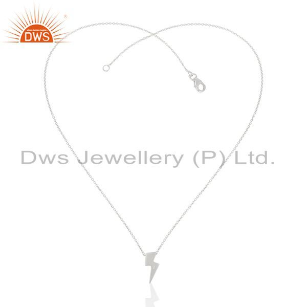Exporter 92.5 Sterling Plain Silver Power Sign Chain Pendant Manufacturer