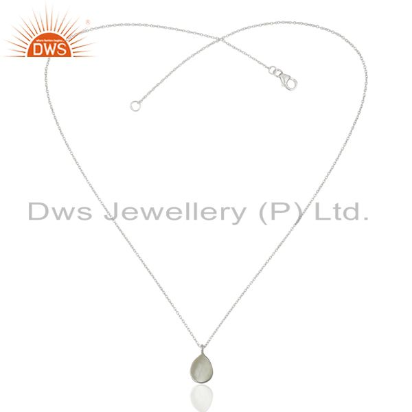 Exporter White Moonstone Sterling Fine Silver Pendant Jewelry Manufacturer