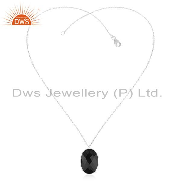 Exporter Fine 925 Sterling Silver Black Onyx Gemstone Pendant Wholesale Supplier
