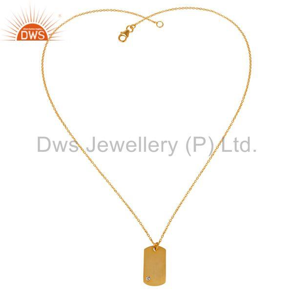 Exporter 14k Gold Plated Zircon White Brass Fashion Chain Pendant Manufacturers