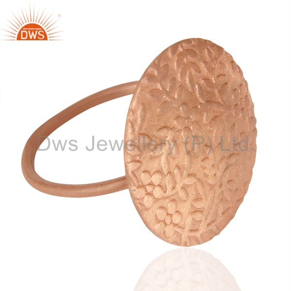 Exporter Flower Ring Rose Gold Plated Fashion Sleek Stackable Riing