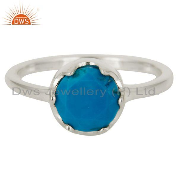 Wholesalers Handmade Natural Turquoise Gemstone 925 Sterling Silver Ring