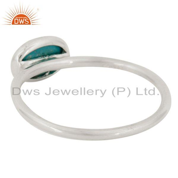 Suppliers 925 Solid Sterling Silver Turquoise Gemstone Bezel Set Stack Ring