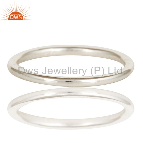 Exporter Solid 925 Sterling Silver Handmade Art Deco Engagement Band Ring Jewelery
