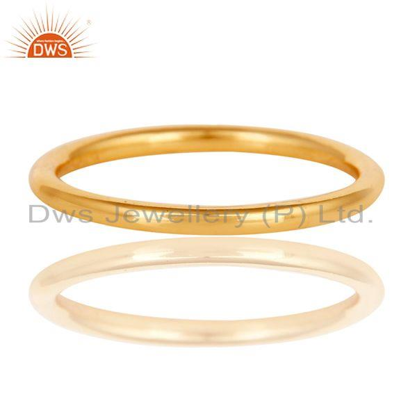 Exporter 18K Gold Plated 925 Sterling Silver Art Deco Engagement Band Ring Jewellery