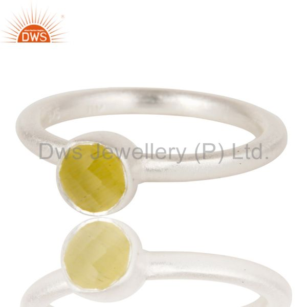 Wholesalers Handmade Solid Sterling Silver Natural Yellow Moonstone Little Stacking Ring