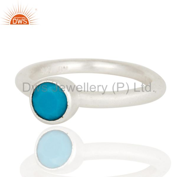 Wholesalers 925 Sterling Silver Turquoise Gemstone Stacking Ring