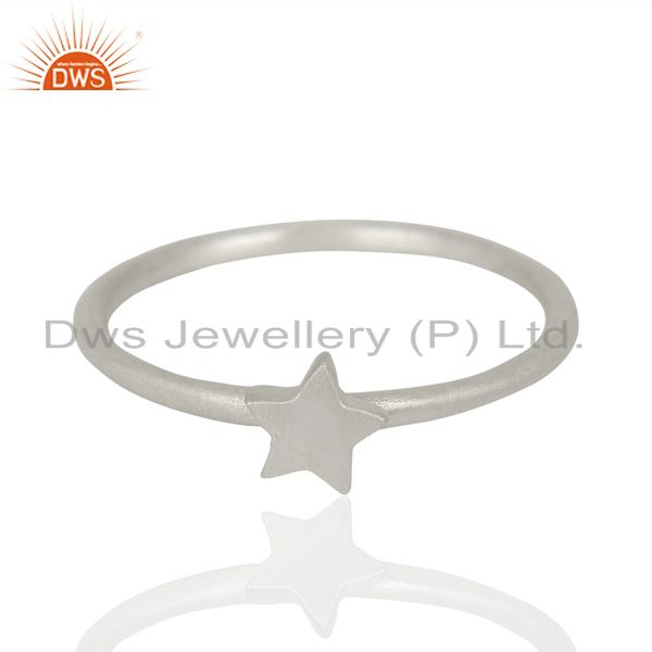 Wholesale Star Shape Simple And Sleek 92.5 Sterling Silver Wholesale Ring