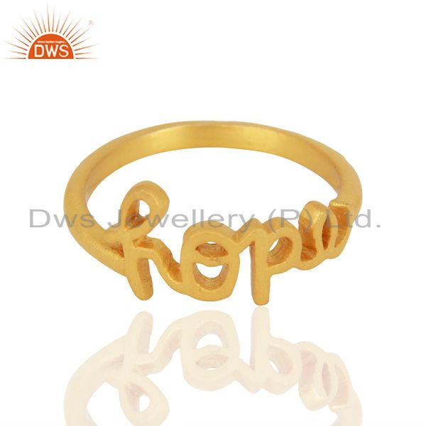 Exporter 18K Yellow Gold Plated Sterling Silver Cursive Style Font