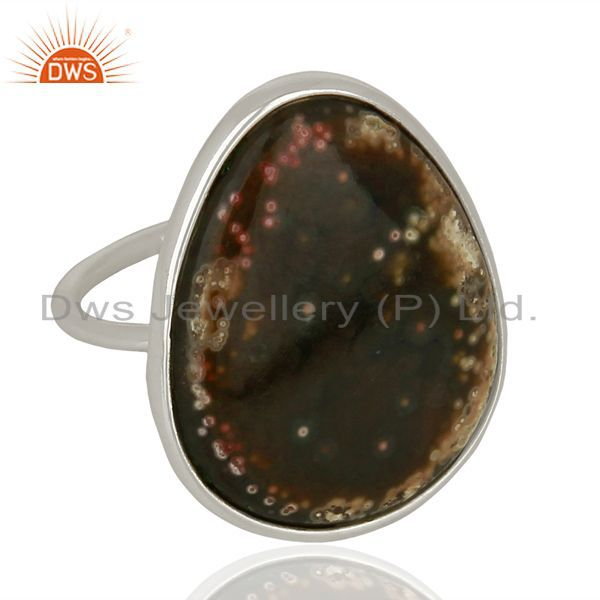 Exporter Ocean Jasper Cocktail 925 Sterling Silver Ring Gemstone Jewelry