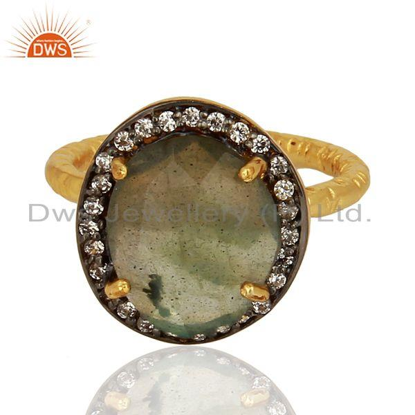 Exporter Labradorite Gemstone Gold Plated Silver Rings Jewelry Wholesale