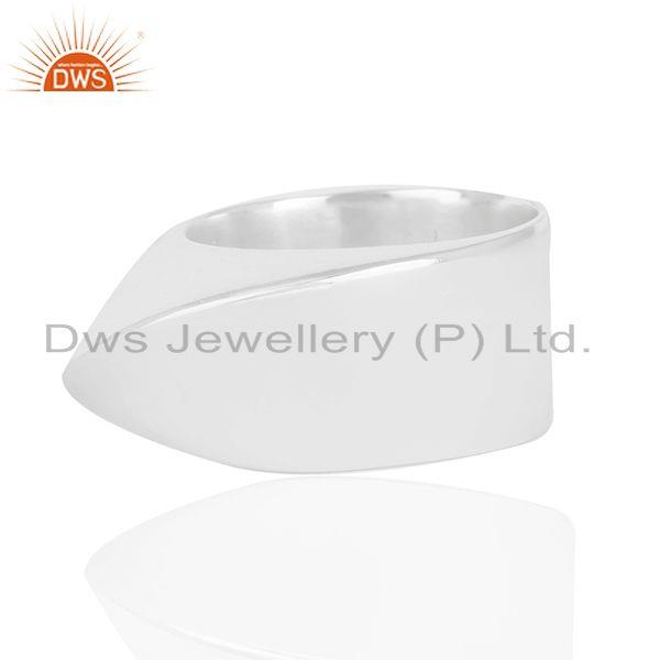 Exporter Handmade Solid 925 Sterling Silver Plain Wedding Band Ring Manufacturer India