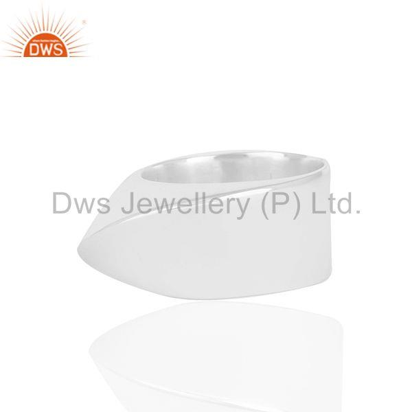 Exporter Solid 925 Sterling Silver Unisex Customized Cocktail Ring Manufacturer