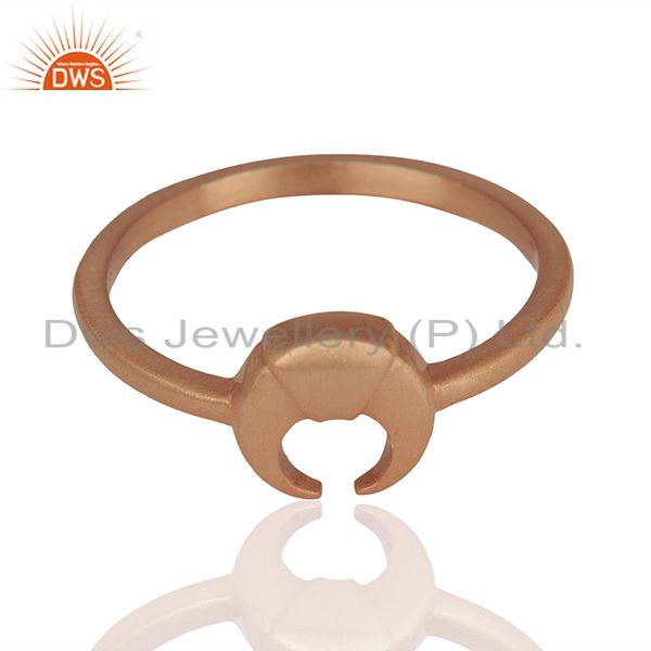 Exporter Rose Gold Plated 925 Silver Charm Rings Manufacturer of Jewelry