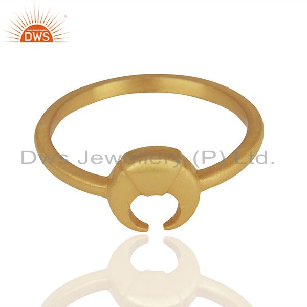 Exporter Horse Shoe Charm 925 Silver Gold Plated Rings Manufacturer