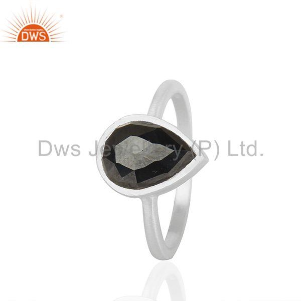 Exporter Hematite Gemstone 92.5 Sterling Silver Customized Ring Manufacturers