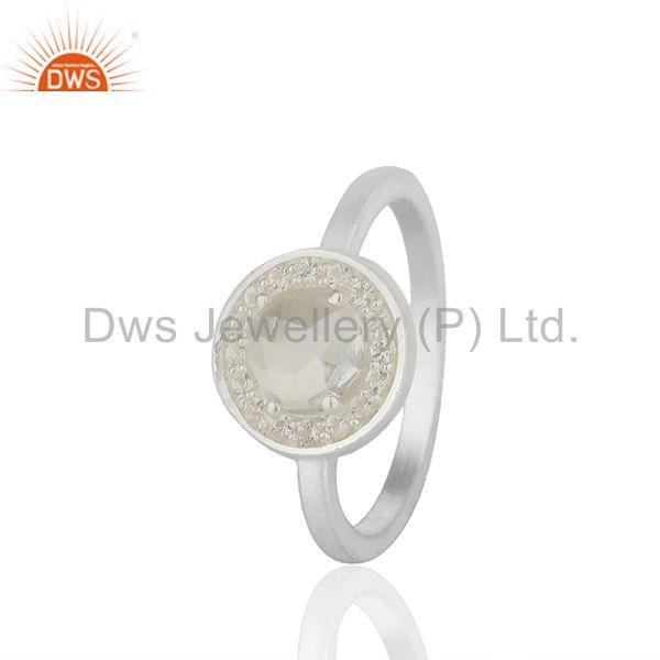 Exporter Multi Gemstone 925 Silver Customized Rings Jewelry Manufacturer