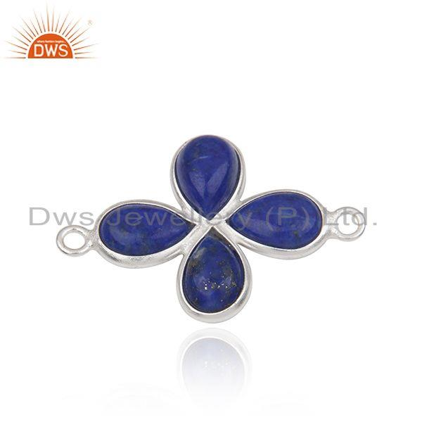 Exporter Silver Plated Brass Fashion Lapis Lazuli Gemstone Connector Findings