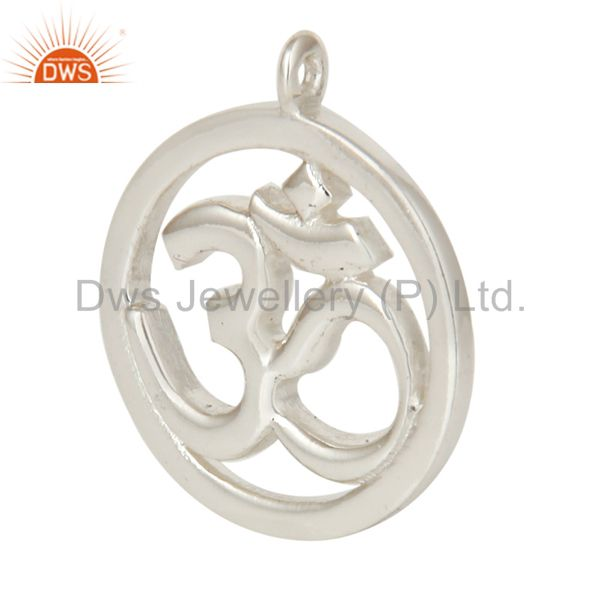 Exporter 925 Silver Plated Om Charm Jewelry Assesories Finding Spirictual Charm