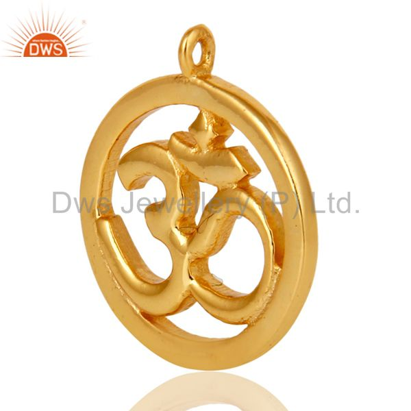 Exporter 18K Gold Plated Om Charm Jewelry Assesories Finding Spirictual Charm